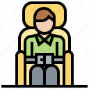 airplane, belt, protection, safety, security icon