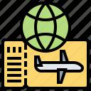 coupon, entrance, flight, pass, ticket