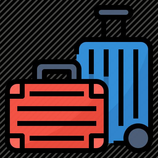 baggage, luggage, suitcase, travel icon