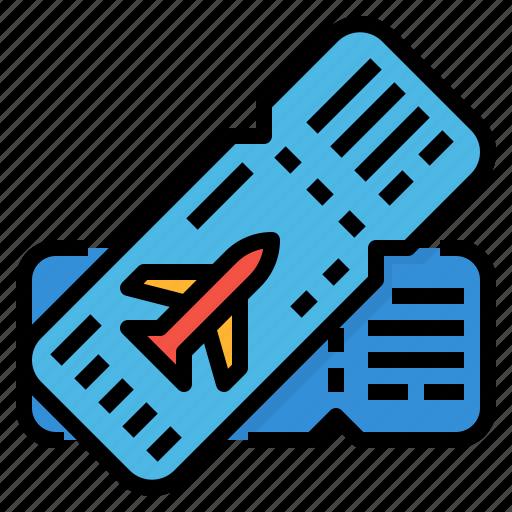 boarding, flight, pass, ticket icon