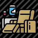 class, first, flight, seat icon