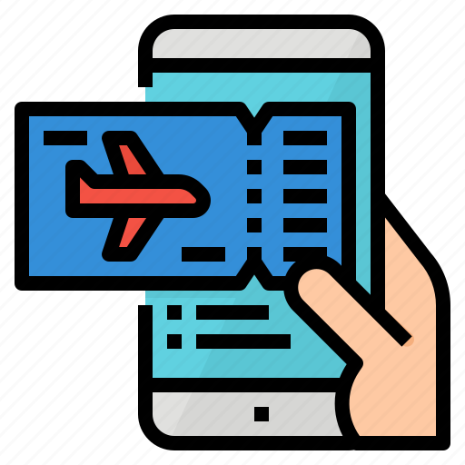 application, booking, flight, ticket icon