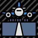 airplane, landing, runway, take off
