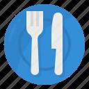 dish, fork, restaurants, spoon icon