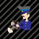 aircraft, airplane, captain, cartoon, pilot, travel, uniform