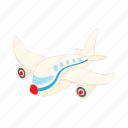 air, aircraft, airplane, cartoon, flight, plane, transportation icon