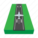 air, aircraft, airstrip, aviation, cartoon, plane, tourism icon