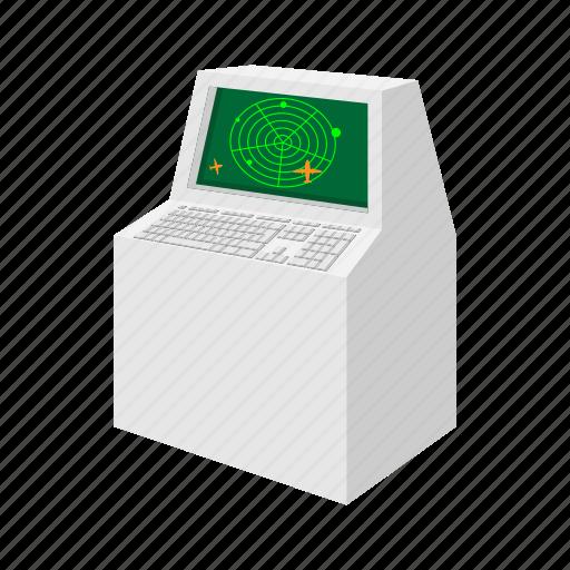 air, airport, cartoon, control, radar, screen, traffic icon