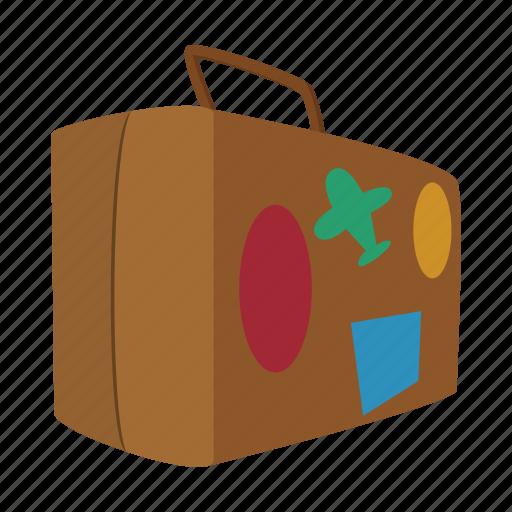 bag, cartoon, journey, luggage, suitcase, travel, vacation icon