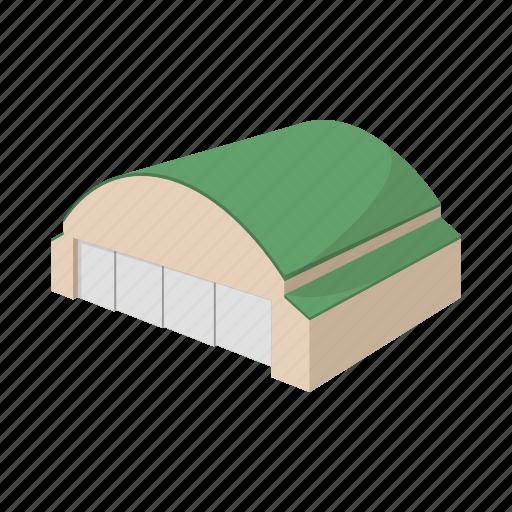cartoon, hangar, industrial, large, storage, storehouse, transportation icon