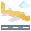airport, arrival, flight, land, landing, plane, transport icon