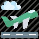 aeroplane, airport, departure, flight, plane, transport, transportation