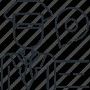 driver, male, taxi icon