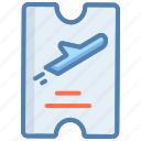 air ticket, airplane ticket, flight, flight ticket, ticket, travel icon