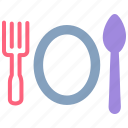 delivery, fork, meal, menu, restaurant, spoon