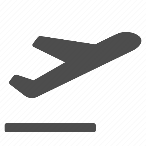 airplane, airport, flying, plane, runway, taking off, travel icon