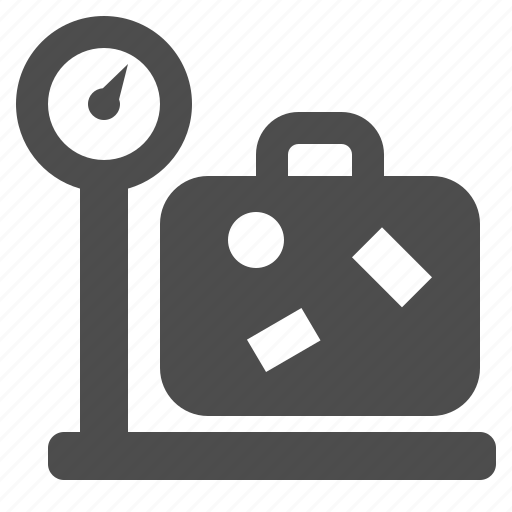 baggage, briefcase, luggage, scale, suitcase, weight icon
