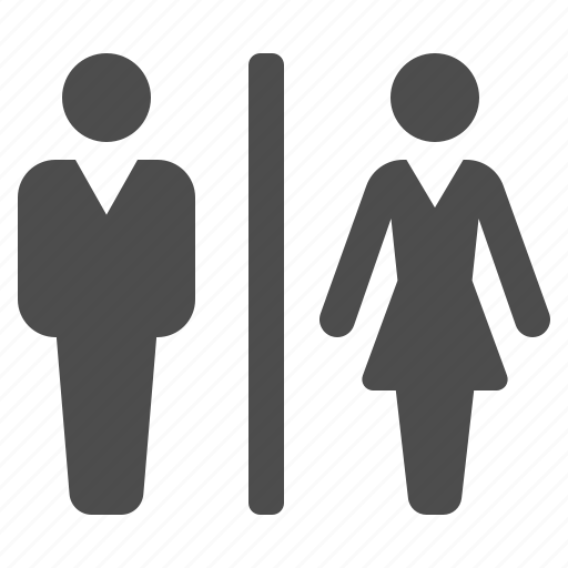 airport, bathroom, man, restroom, toilet, wc, woman icon