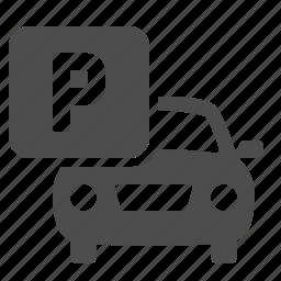 car, parking, parking lot, travel, vehicle icon
