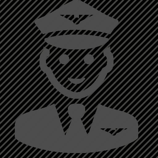 airport, badge, man, pilot, travel, uniform icon