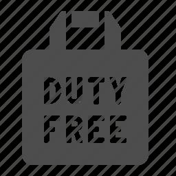 bag, duty free, paper bag, shopping, shopping bag, tax free icon