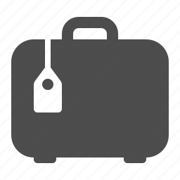 airport, baggage, briefcase, luggage, suitcase, tag icon