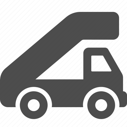 airport, car, ladder, runway, truck, vehicle icon
