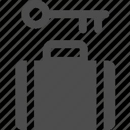 bag, baggage, coin, deposit, locker, luggage icon