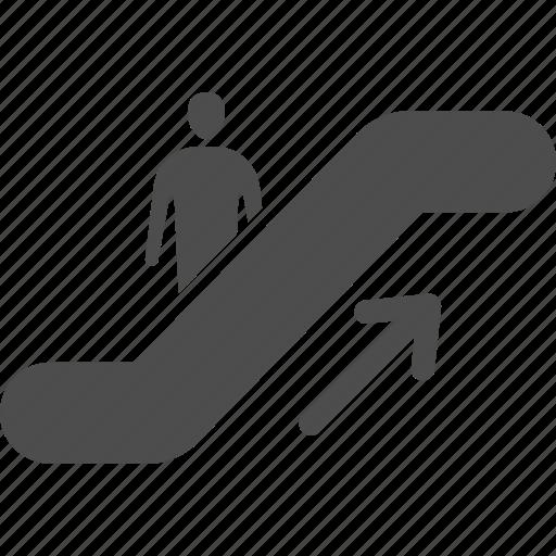 airport, down, escalator, up icon