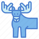 animal, deer, mammal, moose, wildlife icon