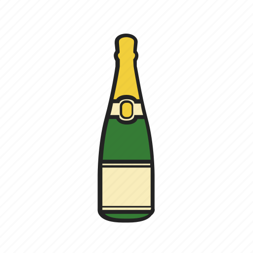 alcohol, bottle, champagne, drink, glass icon