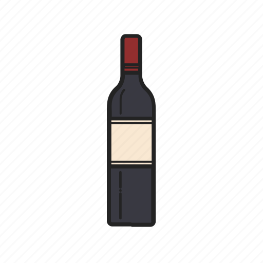 Bottle, wine, alcohol, drink, glass icon - Download on Iconfinder