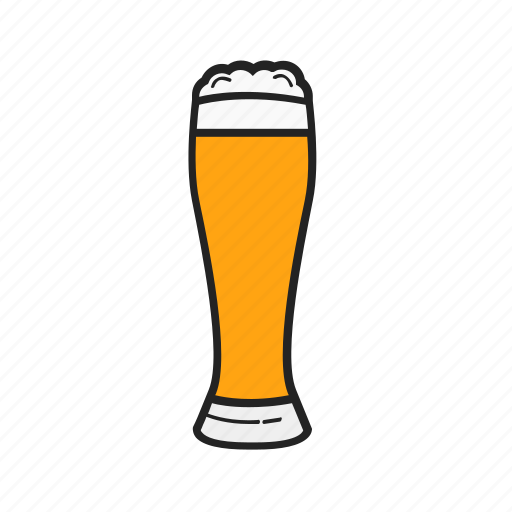 Glass, beer, drink, alcohol icon