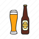 alcohol, beer, bottle, drink, glass icon