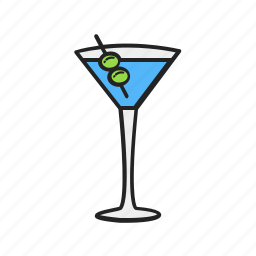 alcohol, drink, glass, magnifier, martini icon