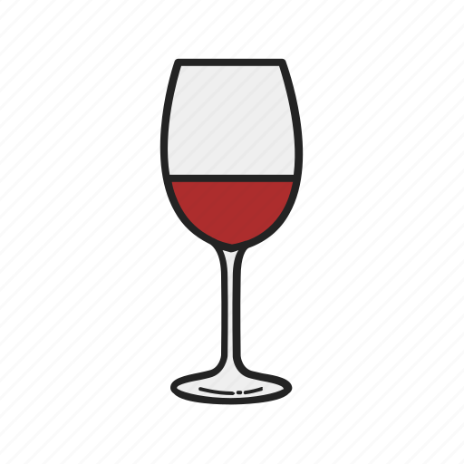 alcohol, drink, glass, magnifying, wine icon