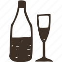 alcohol, bottle, cocktail, drink, glass icon