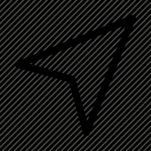 arrow, gps, location, marker, navigation, pin icon