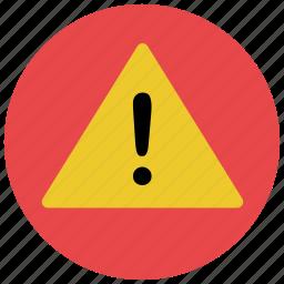 alert, danger, notification, warning icon