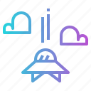 alien, atmosphere, clound, ufo icon