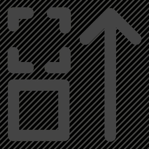 arrow, drag, move, move up, up icon