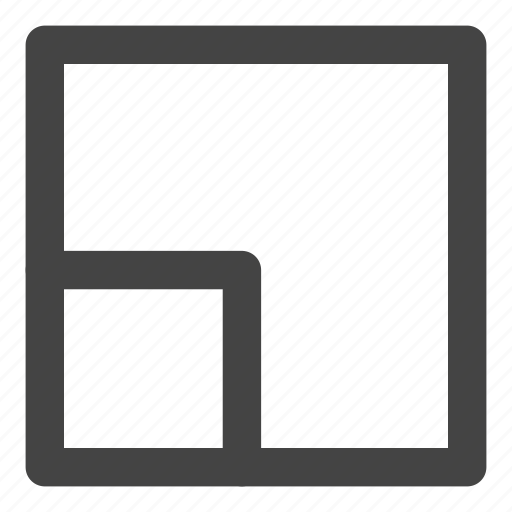 expand, geometry, layers, minimal, scale, shape, square icon