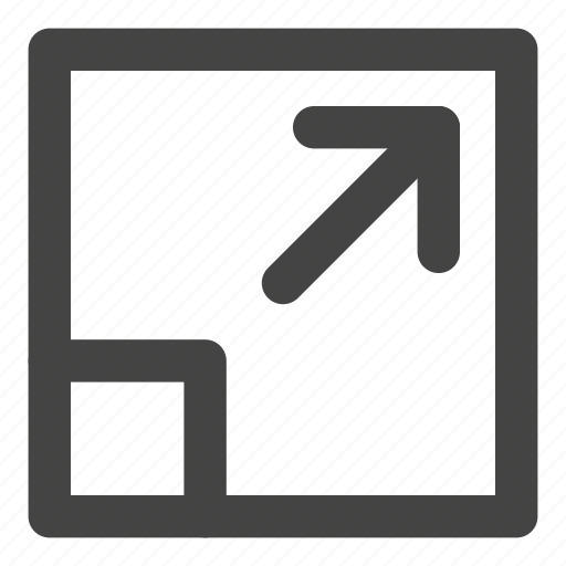 arrow, exit, expand, move, orientation, scale, scale tool icon