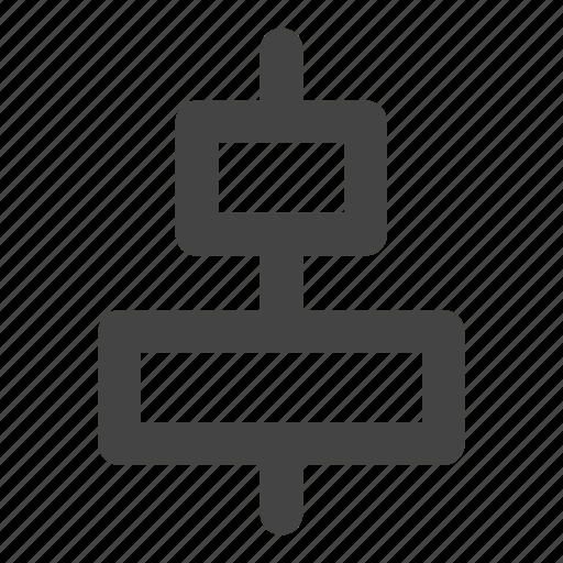 align, align center, alignment, horizontal icon