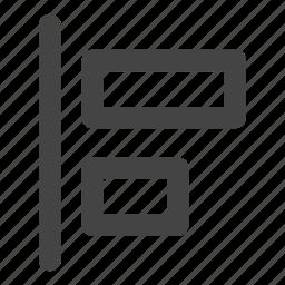 align, align left, alignment, horizontal icon