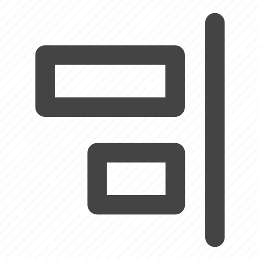 align, align right, alignment, horizontal icon