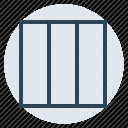 columns, design, format, layout, view icon