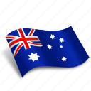australia, flag, map, marker, national, navigation, pointer icon