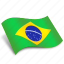 brasil, christ, circle, flag, flags, national, square icon