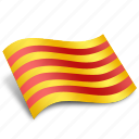 american, catalonia, catalunya, country, rectangle, rectangular, state icon